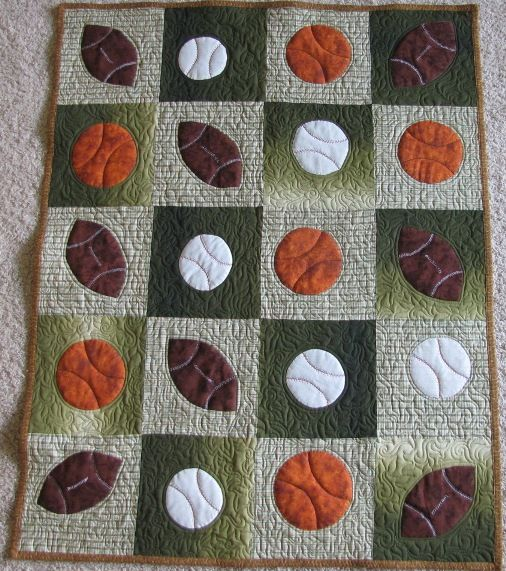 Play ball!!! This quilt was shared on the APQS forum by Annie, and we love it.