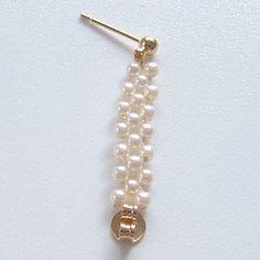「小粒パールのフープイヤリングの作り方」のピアス編も紹介します!...