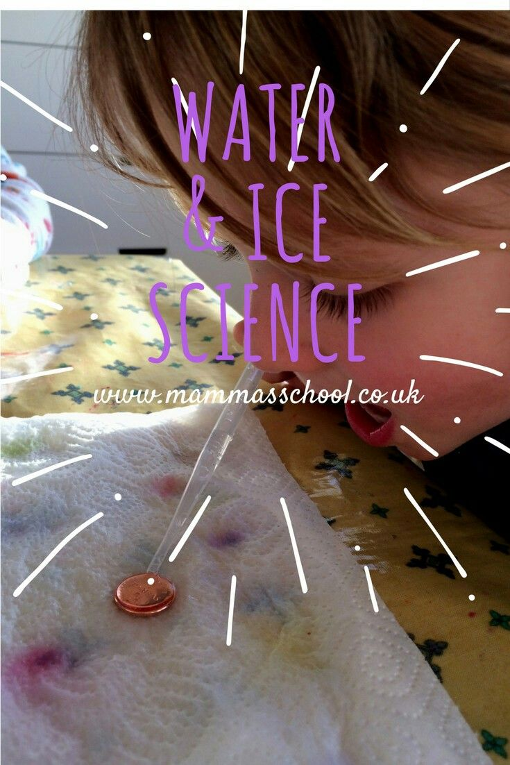 Ice and water experiments