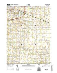 Norwalk Oh Topo Map 1 24000 Scale 7 5 X 7 5 Minute Historical 2013 West Map Map Topographic Map