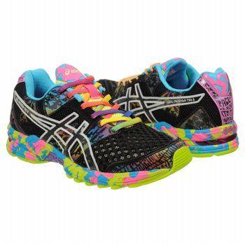 asics gel noosa tri 8 womens running shoes black/confetti