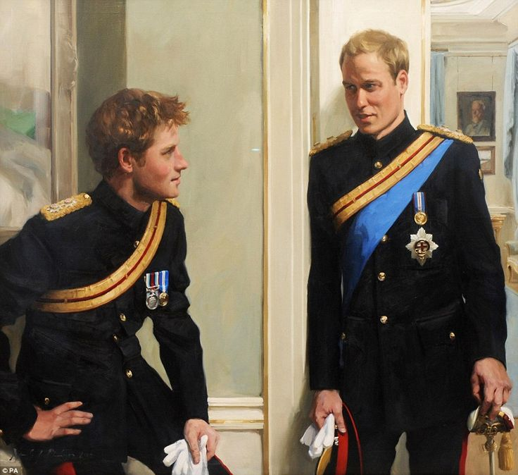 The first double portrait of Prince William and Prince Harry