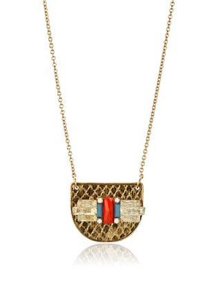 60% OFF Sandy Hyun Green & Orange Crystal Necklace