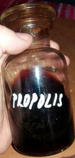 PROPOLIS Propolis je látka podobná pryskyřici, kterou včelky sbírají z pupenů a kůry rostlin. Tato látka jim slouží k tomu, aby ochránily svůj úl před bakteriemi, viry, plísněmi a kvasinkami. Propolis obsahuje 50 - 60% pryskyřic a balzámů, 10 – 12% éterických olejů. Propolis je velice léčivá surovina, proto by neměla chybět v žádné domácí…