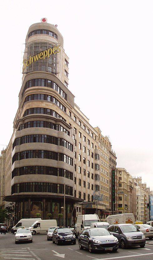 EDIFICIO CARRIÓN, Madrid. Luis Martínez-Feduchi y Vicente Eced, 1931-1934. Art Decó y Arquitectura Expresionista.