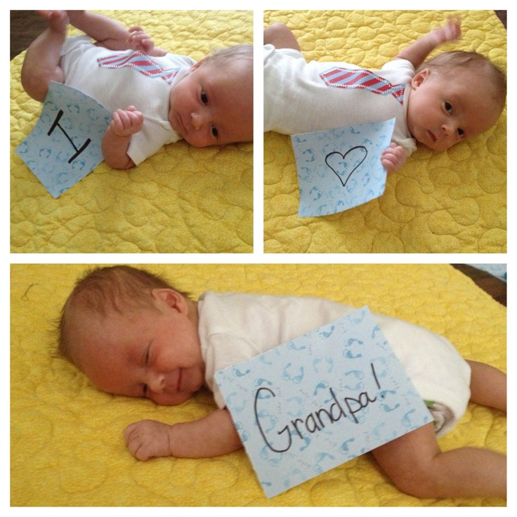 Cute First Fathers Day Gifts Part - 34: First Fatheru0027s Day Gift As A Grandpa For My Dad. The Baby Is 7 Weeks