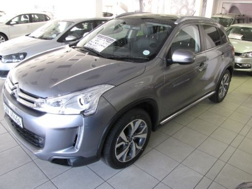 2013 Citroen C4 AIRCROSS 2.0 Exclusive AWD A/T  •37 421 kms           •Now Only R 229 900  •110 kW at 6000 •Torque: 197nm at 4200 •Diff Lock •4 Cylinder (non Turbo) •6 Speed Automatic (CVT) Transmission •63L Fuel Tank with consumption Average at 8.1L per 100 kms •Automatic Air Conditioner •Auto Xenon Headlamps •Electric windows and mirrors •Rain Sensors •Heated Front seats •Blue Tooth •Cruise Control on Steering  •Alarm with remote controlled Central Locking •7 x Airbags…