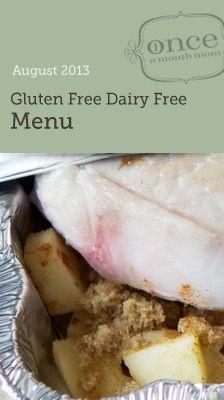 Gluten Free Dairy Free August Menu OAMM