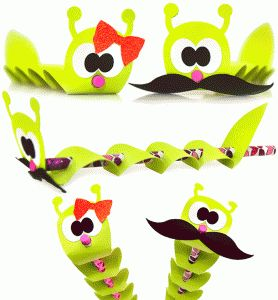 Silhouette Online Store - View Design #55425: inchworm pencil topper