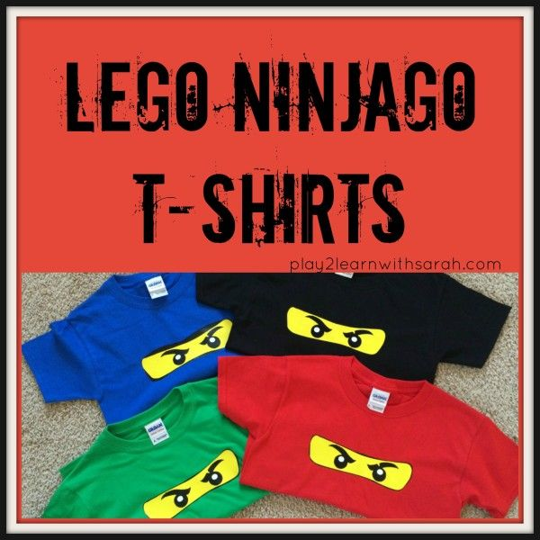 Lego Ninjago T-Shirts | Play 2 Learn with Sarah http://play2learnwithsarah.com/lego-ninjago-t-shirts/