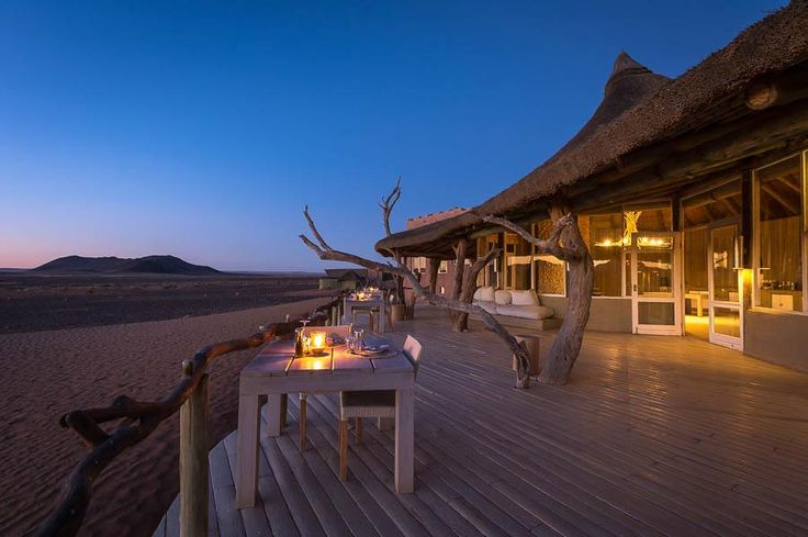 Is there any setting more romantic than a table for two overlooking the Namib Desert?