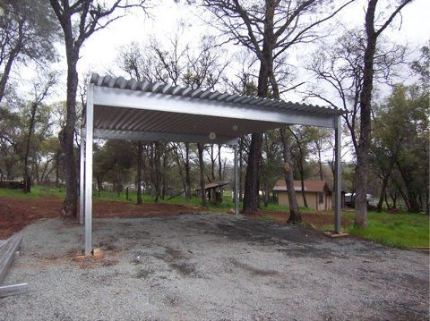 4 Post 2 Vehicle Carport Modern Carports In 2019