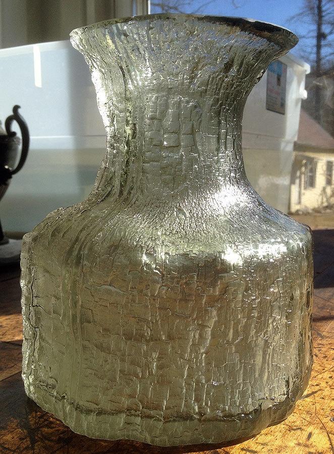 Vintage Timo Sarpaneva Smoked Art Glass Vase, Finlandia