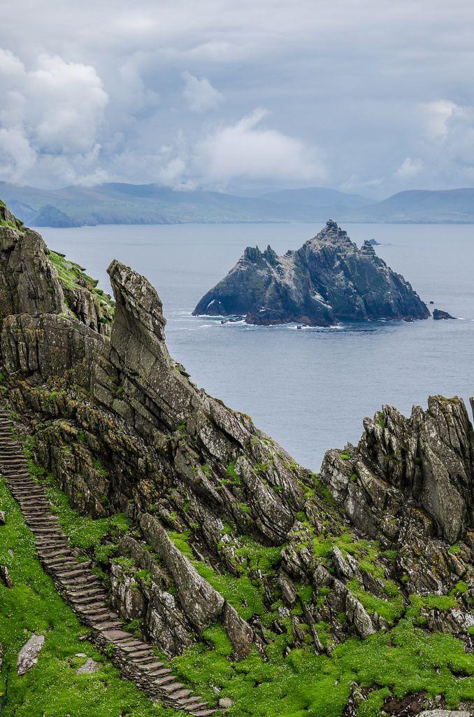 wanderthewood:    Skellig Islands Kerry Ireland by -Terrier-