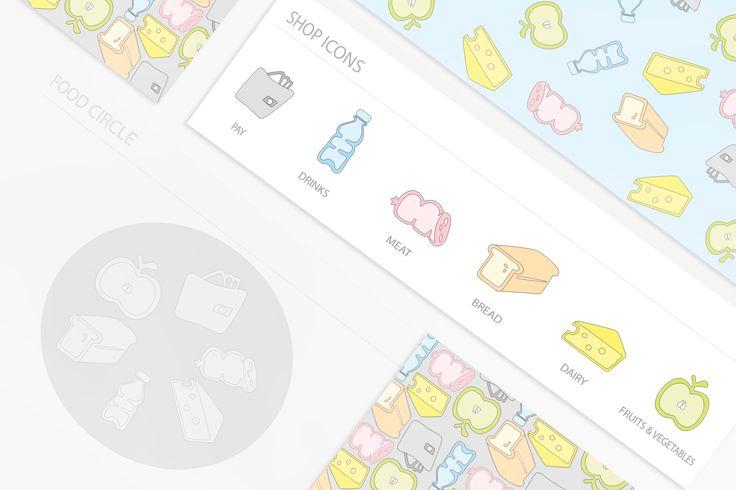 doodle food icons - by Marta Olszewska