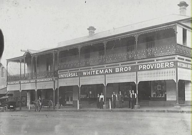 Camden NSW, Whiteman's Store on Argyle Street, 1923. Owned and operated by four generations of the Whiteman family. Copyright: Camden Historical Society
