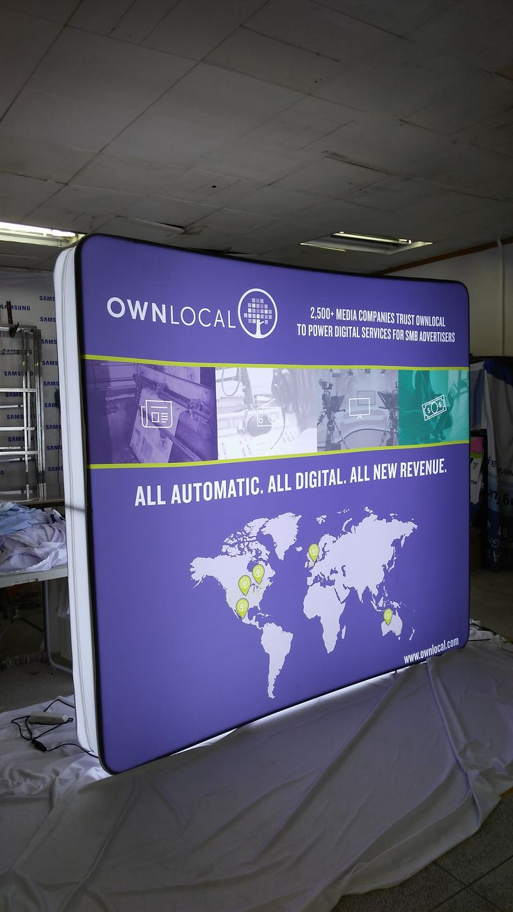 Another perfect light box made for @ownlocal We love the bright #led lights that #shine through  #ohmyprint #business #printing #fabricprinting #marketing #promotion #tradeshows #tradeshow #display #bannerstands #showtime #concerts #automatic #digital #tensionfabric #stepandrepeat
