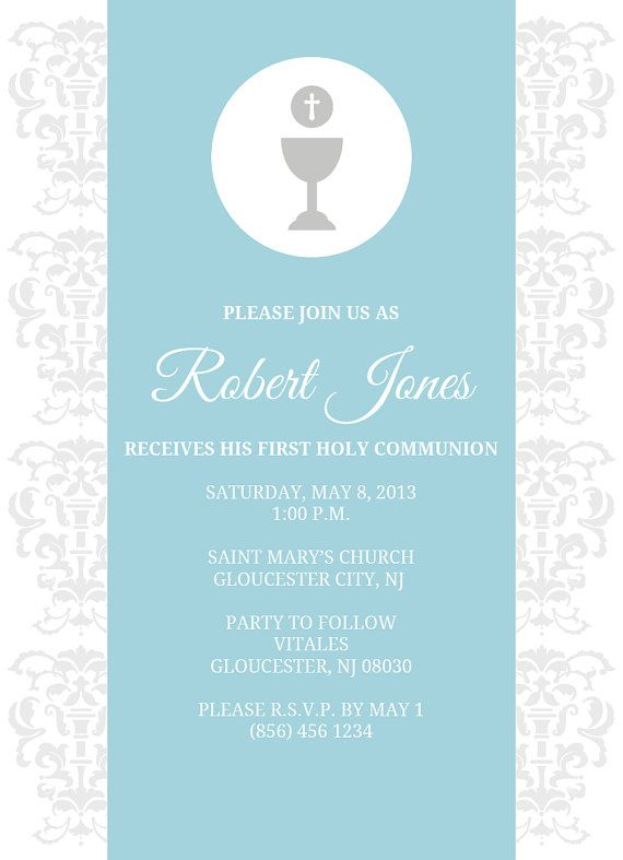 First Holy Communion Invitation Boy or Girl by danaleighdesigns89, $15.00