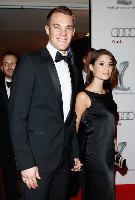 Manuel Neuer and Kathrin Gilch at a gala in Zurich on January 13, 2014...