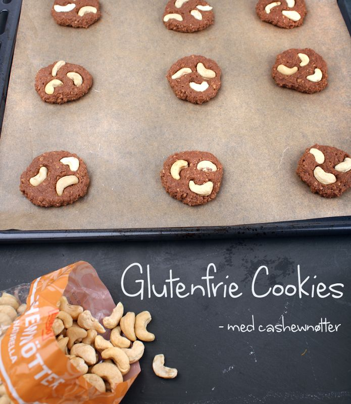 Oppskrift Glutenfrie Cookies Veganske Småkaker Sjokoladecookies Kikertmel Glutenfritt Mel Cashewnøtter