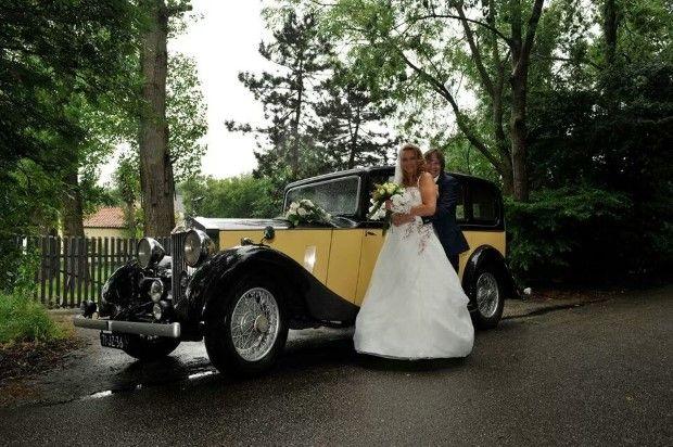 Rolls Royce Sedan de Ville geel-zwart trouwauto uit 1935