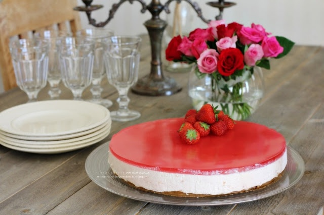 #Norwegian strawberry cheesecake #strawberry #cheesecake