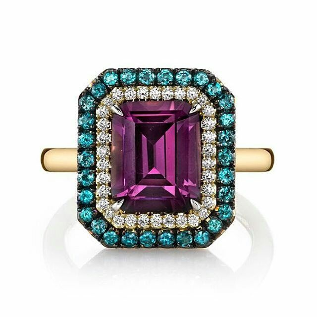 Thanks for the shout out @olgagonzaleznyc on our newest spinel, diamond and…