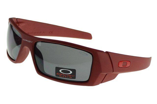 Buy Cheap Oakley Gascan Sunglasses Red Frame Gray Lens#Oakley Sunglasses