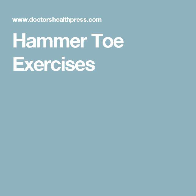Hammer Toe Exercises