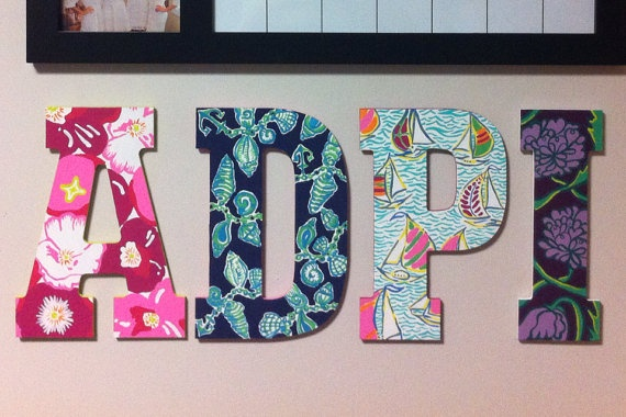 adpi wooden letters lilly print wooden letters and letters