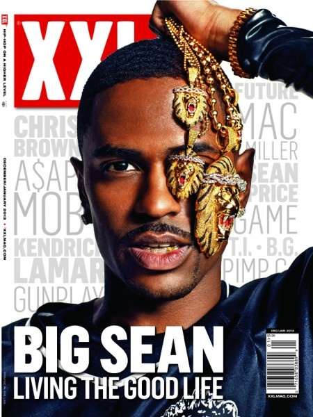 """The December issue of XXL magazine features rapper Big Sean hidding one eye and  showing you why he's """"living the good life""""."""