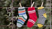 Strikkeopskrift på sokker til de små børn