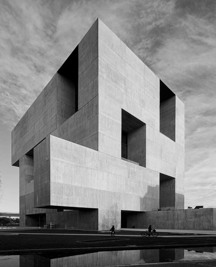 "Innovation Center UC by Alejandro Aravena. 'More than the enigma of a stone, I like its calmness' "" Innovation and knowledge creation requires on the one hand, to increase the encounters among people, so openness is a desired attribute for its architecture;..."