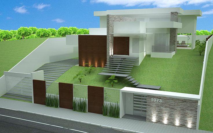 60 modelos de muros residenciais fotos e dicas for Modelos de fachadas de casas