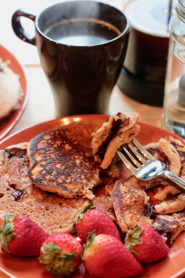 Vegan Blueberry Pancakes (Healthy!) are SO delicious and incredibly good for you. Loaded with whole wheat and flax seed. Easy and quick pancake recipe!