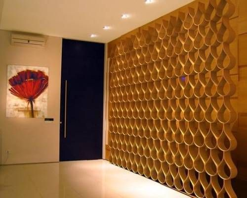bent wood divider wooden wall paneling designs - Wooden Wall Paneling Designs