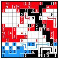 Color Link-a-Pix - step 5 (A)