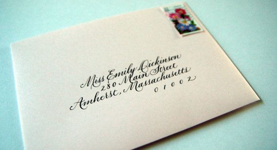 When To Mail Wedding Invitations Emily Post: Best 25+ Calligraphy Envelope Ideas On Pinterest