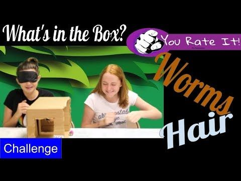 You Rate it - What's in the Box challenge from hair to worms it gets interesting. You Rate It presents; What's in the box challenge. Julie Snelling and Isobel Sawyer try to out maneuver one another with interesting and funny things they have to feel in a