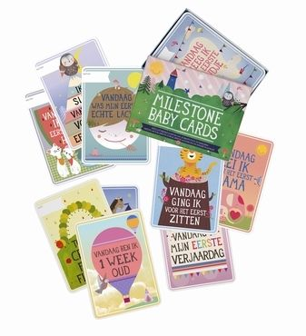 Capture your #baby's first year with the original #MilestoneBabyCards 30 #cards in a box. First smile, first steps, first words & 25 other magical #baby moments from www.kidsdinge.com https://www.facebook.com/pages/kidsdingecom-Origineel-speelgoed-hebbedingen-voor-hippe-kids/160122710686387?ref=hl #toys #speelgoed #kidsdinge