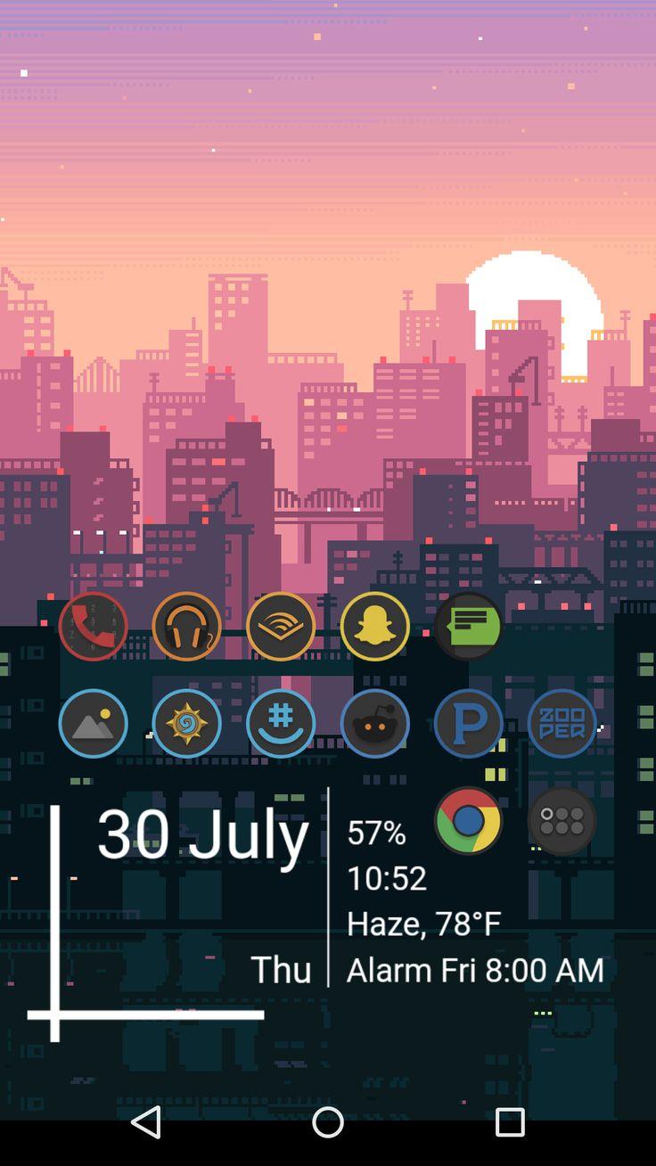 8bit cityscape