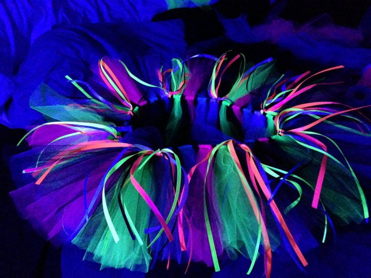 Black light tutu I made for the glow run