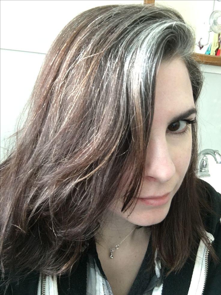 In The Light They Shimmer Gray Streak Gray Hair