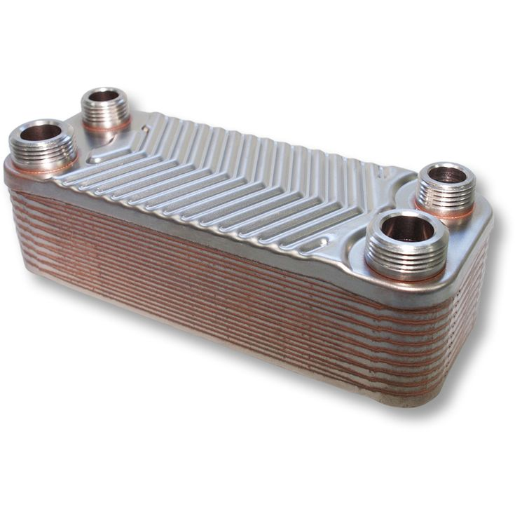 Hrale Stainless Steel Heat Exchanger 20 Plates max. 44 kW Plate Heat Exchanger - 50672 - Heating and plumbing