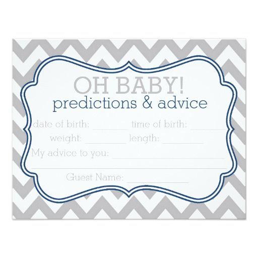 Baby Showers Uk Tips ~ Nautical baby shower prediction advice cards google