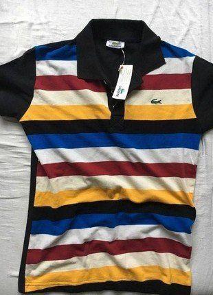 Kup mój przedmiot na #vintedpl http://www.vinted.pl/odziez-meska/t-shirty-w-paski/18657804-wielobarwna-meska-koszulka-z-krotkim-rekawem-firmy-lacoste