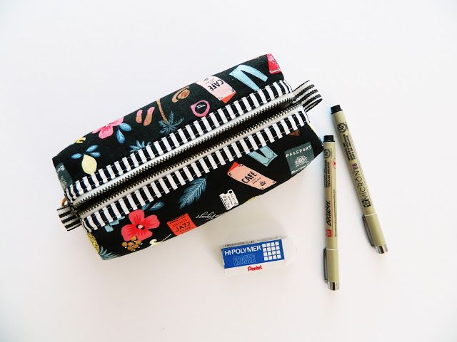 boxy pouch {a free tutorial}