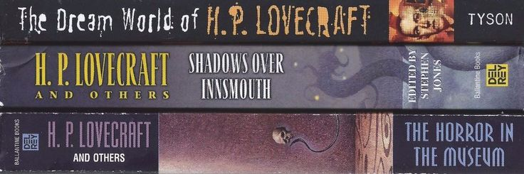 HP Lovecraft X3 lot Shadows Over Innsmouth Horror in Museum Dream World Cthulu