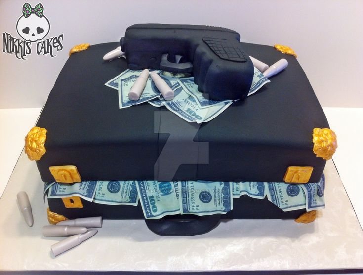 Briefcase stuffed with money cake by Corpse-Queen.deviantart.com on @DeviantArt
