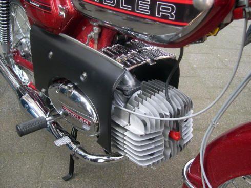 Kreidler en Zündapp mix custom made, zundapp engine with kreidler cylinder.